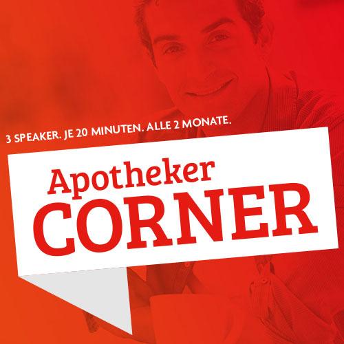 Webseite der Apotheken-Webinarserie Apothekers-Corner